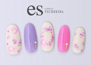 【ツメキラエス】little flowers ピンク