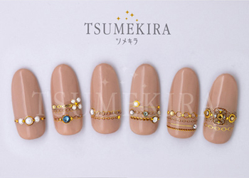 mi-miプロデュース Charm Collection、Classic chain、Gold chain(ジェル専用)